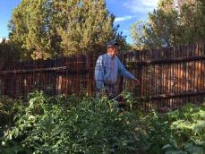 frank in garden